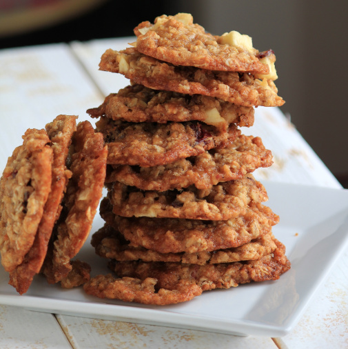 Apple Oatmeal Toffee Cookies | Baking With Basil